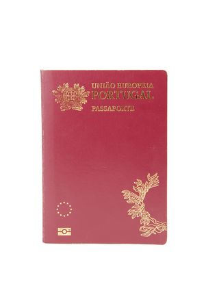 new Portuguese Electronic Passport (PEP) isolated on white background Stock Photo - 6381147