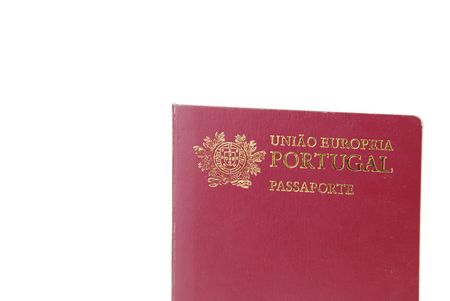 pep: new Portuguese Electronic Passport (PEP) isolated on white background