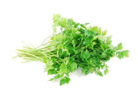 bouquet of parsley isolated on white background
