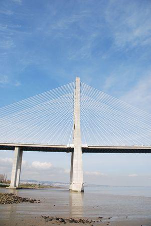 longest bridge in Europe known as Vasco da Gama (over the Tagus river) photo