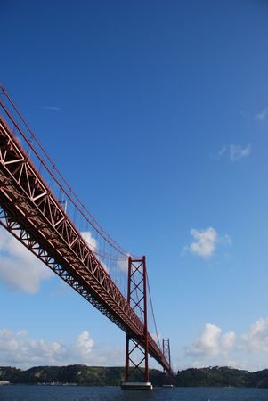 view of old Salazar bridge in Lisbon, Portugal Stock Photo - 6795892