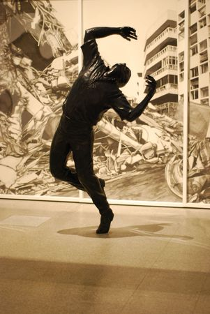 LISBON - MARCH 25: retrospective exhibition from Robert Longo at CCB on March 25, 2011 - Lisbon, Portugal