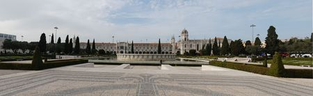 lisbonne: panoramic view of the famous Hieronymites Monastery landmark in Lisbon, Portugal