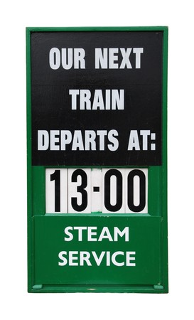 informational: beautiful antique train informational wooden placard