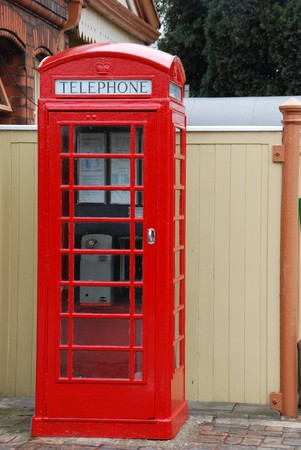 typical red telephone booth Stock Photo - 6914341