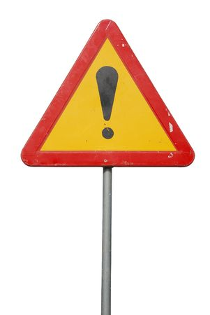 temporary construction sign isolated on white background Stock Photo - 7016131