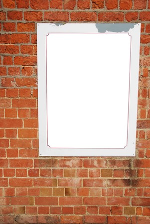 empty billboard on a beautiful brick wall building Stock Photo - 7198336