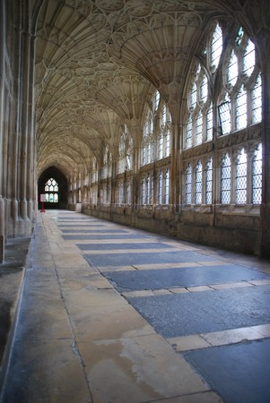 gloucestershire: the famous Cloister in Gloucester Cathedral, England (United Kingdom) Editorial