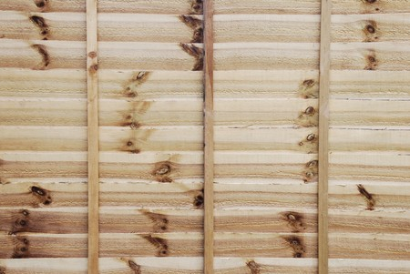 horizontal background or texture of a new wooden fence Stock Photo - 7185529