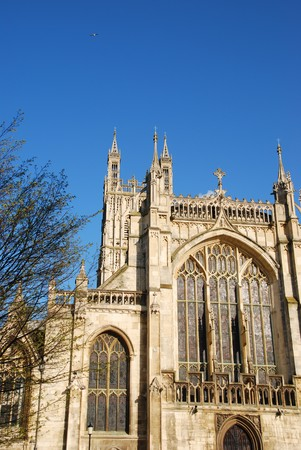 gloucestershire: the famous Gloucester Cathedral, England (United Kingdom) Stock Photo