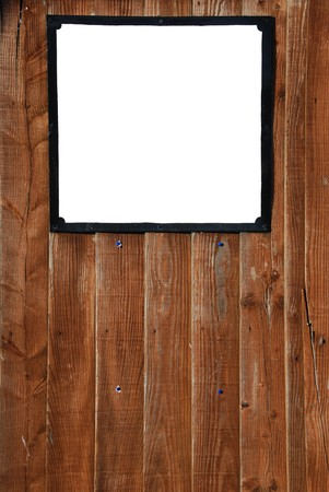 empty billboard on a beautiful wooden fence background photo