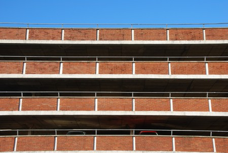 empty parking facility on a tall brick building Stock Photo - 7195628