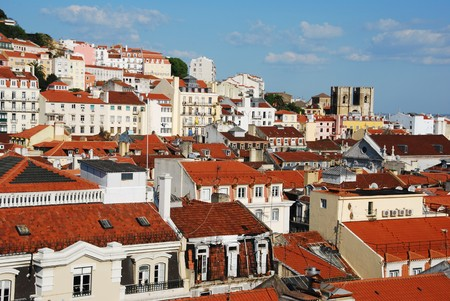 beautiful cityscape of Lisbon with S� Cathedral, Portugal Stock Photo - 7402065