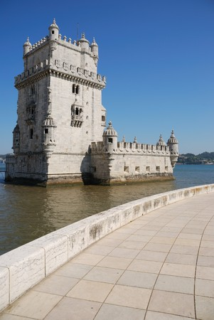 Belem Tower, one the most famous landmark in the city of Lisbon (Portugal)