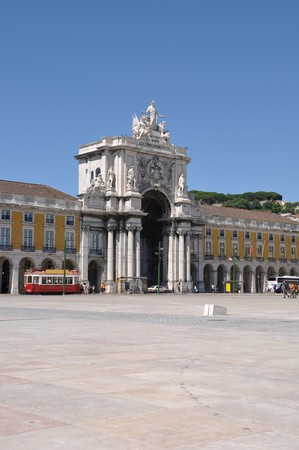 famous Commerce Square also known as Terreiro do Pa�o in Lisbon, Portugal photo