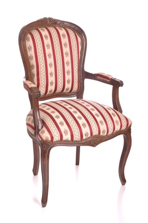 beautiful antique padded chair isolated on white background Stock Photo - 7508111