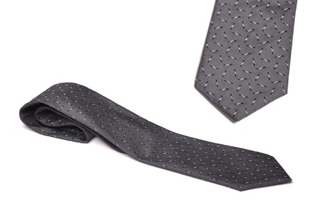 grey and black tie with copyscape for fathers day perhaps (isolated on white background) Stock Photo - 7508115
