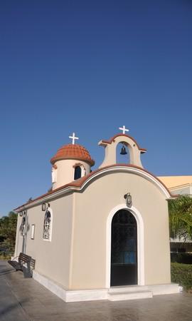 beautiful greek church in Kos, Greece (gorgeous blue sky) photo