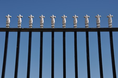 detail of a iron gate against blue sky background Stock Photo - 7917116