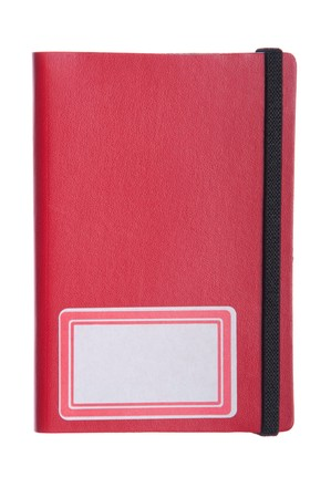 gorgeous red notebook, diary or agenda (isolated on white background) photo