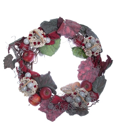 gorgeous Christmas wreath decoration isolated on white background Stock Photo - 8355031