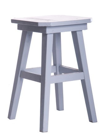 old wooden grey stool isolated on white background Stock Photo - 8402556