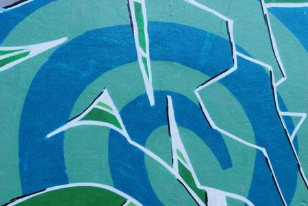 LISBON, APRIL 2 2009: colorful segment of a graffiti in Amoreiras quarter on a public road in LISBON, PORTUGAL Stock Photo - 9063116