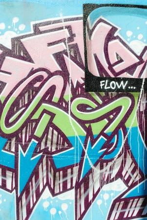 asbo: LISBON, APRIL 2 2009: colorful segment of a graffiti in Amoreiras quarter on a public road in LISBON, PORTUGAL Editorial