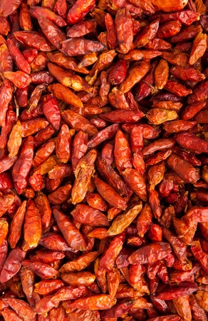 vibrant Piri Piri peppers as a texture or background Stock Photo - 9966692