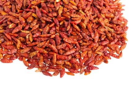 bunch of Piri Piri peppers isolated on white background Stock Photo - 9966690