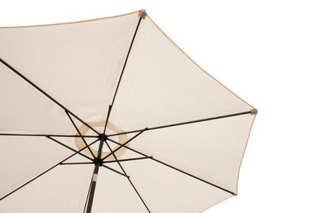 gorgeous beach or pool outdoor umbrella isolated on white background photo
