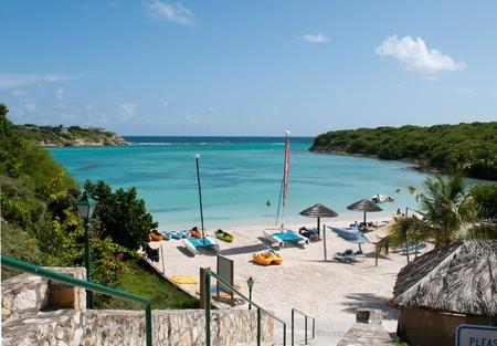 beautiful tropical beach on Long Bay, Antigua Stock Photo - 10574628