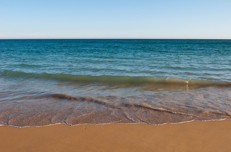 gorgeous beach in summertime (atlantic ocean) in Albufeira, Portugal photo