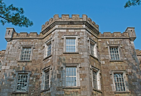 historische Cork City Gaol Gefängnis in Cork, Irland Hintergrund des blauen Himmels