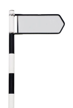 blank black and white road sign with grey copy-space for your design  isolated on white background  Stock Photo - 13237961