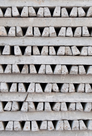 roof beam: small concrete beams to build roofing (construction material as a background or texture) Stock Photo