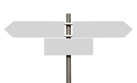 empty multidirectional sign isolated on white background (boards isolated on grey) Stock Photo - 14009257