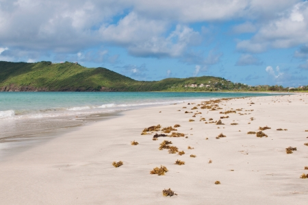 deserted sandy beach at Vieux Fort, Saint Lucia photo