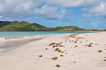 deserted sandy beach at Vieux Fort, Saint Lucia Stock Photo - 16493779