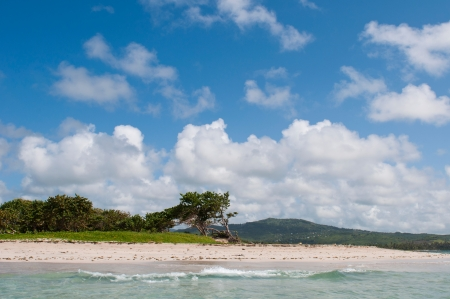 deserted sandy beach at Vieux Fort, Saint Lucia Stock Photo - 16493785