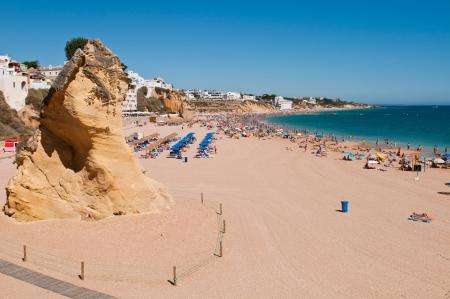 region of algarve: stunning beach in Albufeira during summer  Algarve region , Portugal