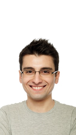 smiling casual man portrait isolated on white background  photo