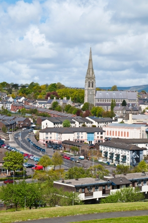 eugene: stunning town view with St Eugene Cathedral, Northern Ireland