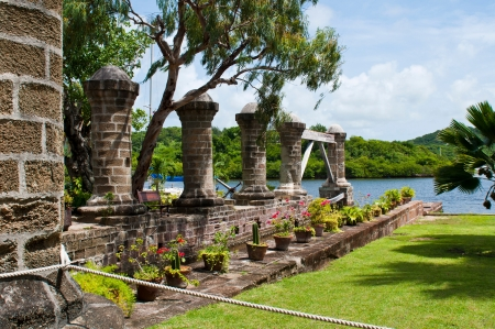 nelson: Nelsons Dockyard, cultural heritage site and marina in English Harbour, Antigua (Caribbean) Editorial