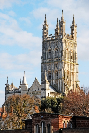 the famous Gloucester Cathedral, England (United Kingdom) Stock Photo - 17956730