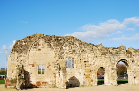 stunning St Oswald's Priory church ruins in Gloucester, United Kingdom Stock Photo - 17956770