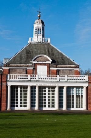 knightsbridge: Serpentine Gallery in Kensington Gardens in London, England