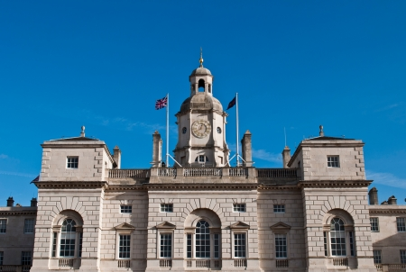 Horse Guards Building in London, England  against a blue sky