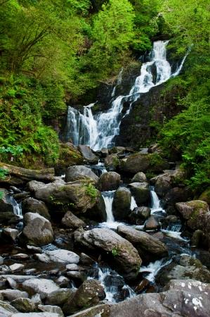 runnel: stunning Torc waterfall in the Killarney National Park, Ireland