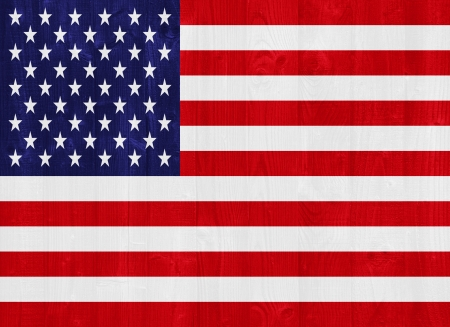 gorgeous United States of America flag painted on a wood plank texture Stock Photo - 22141345